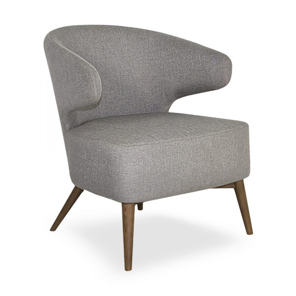 Mission Chair Light Grey Fabric