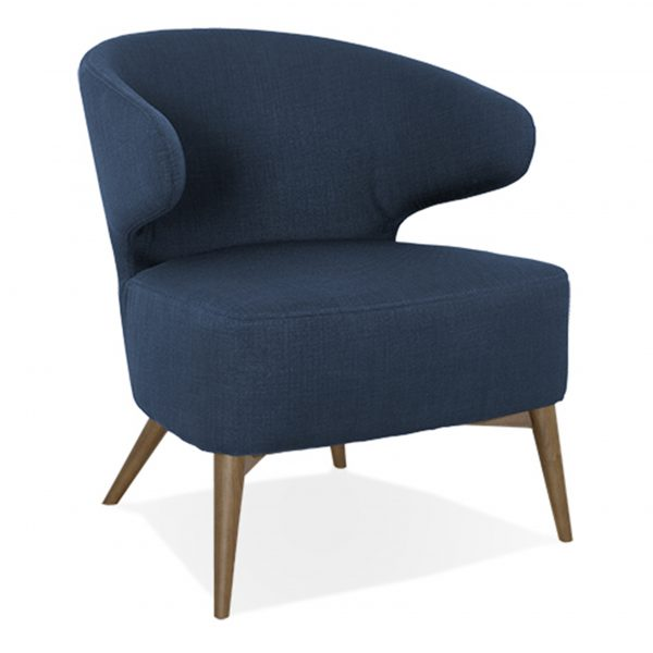 Mission Chair Navy Fabric