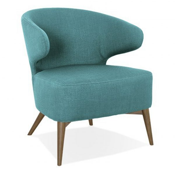 Mission Chair Turquoise Fabric