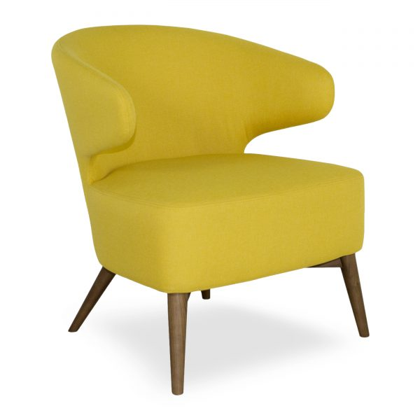 Mission Chair Yellow Fabric