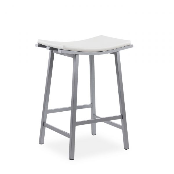 Nathan Counte Stool in Parchment, Angle