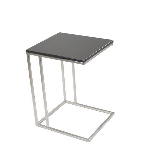 Solara Table Grey Lacquer, Side Profile
