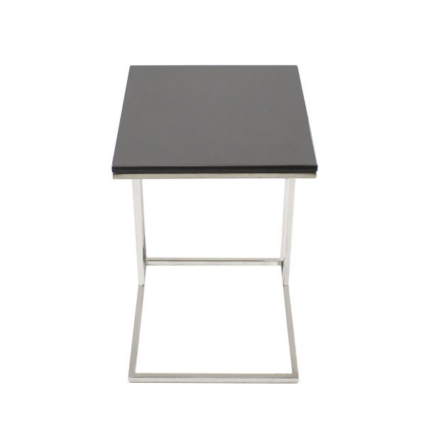 Solara Table Grey Lacquer, Front