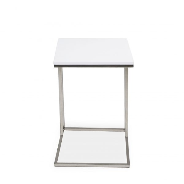 Solara Table White Lacquer, Front
