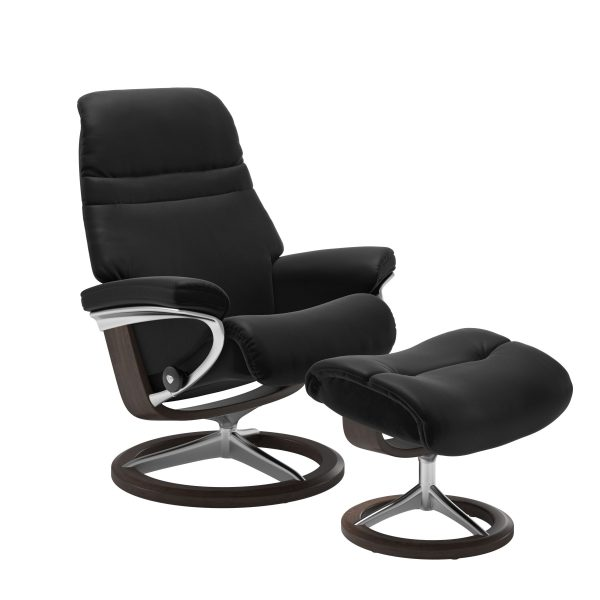 Stressless Sunrise Signature in Paloma Black, Front