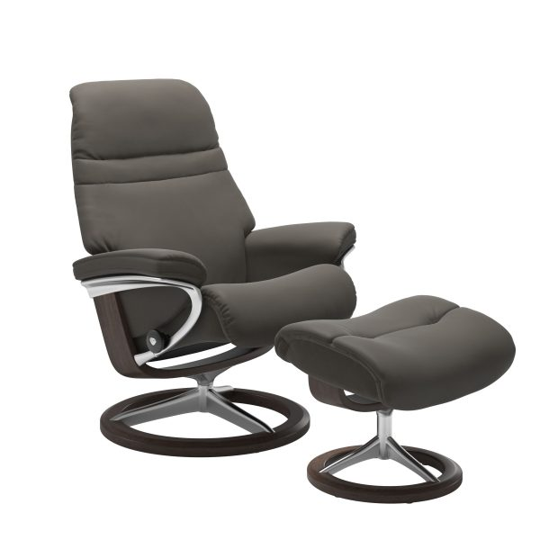 Stressless Sunrise Signature in Paloma Metal Grey, Front