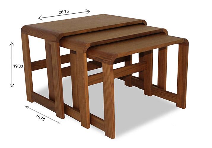 Sun Cabinet 3018 Nesting Table Dimensions