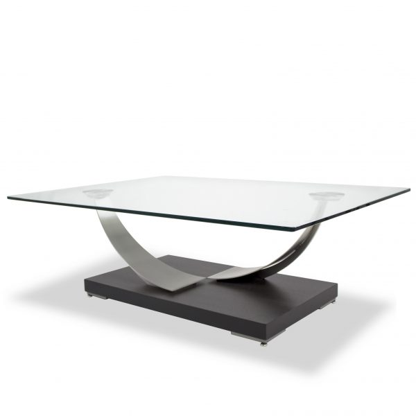 Elite Modern Tangent Coffee Table, Angled