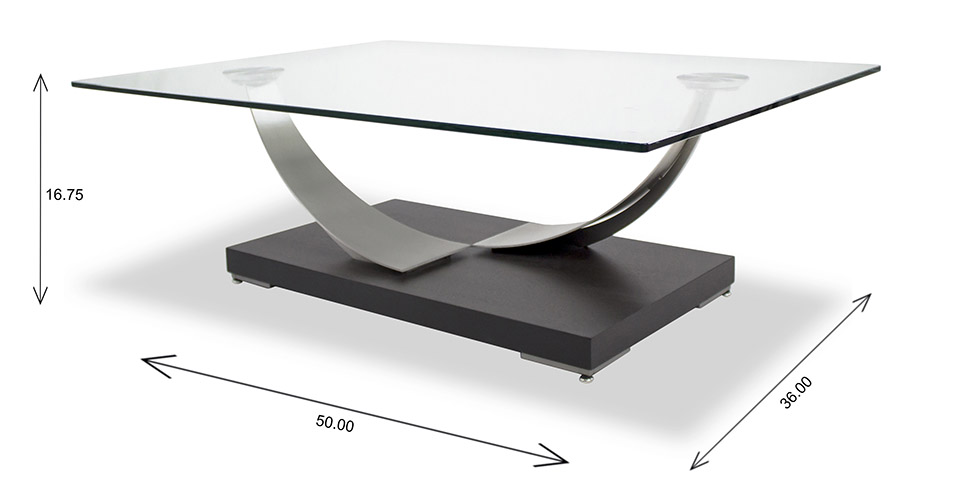 Elite Modern Tangent Coffee Table Dimensions