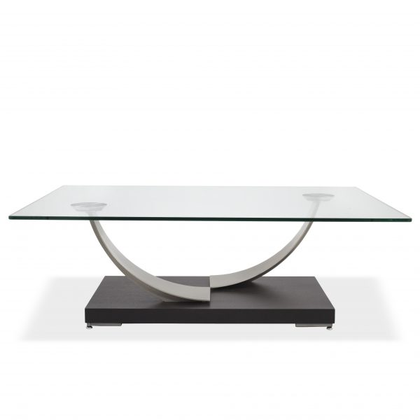 Elite Modern Tangent Coffee Table, Straight
