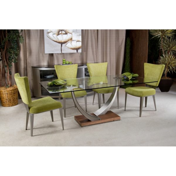 Elite Modern Tangent Dining Table with Chairs