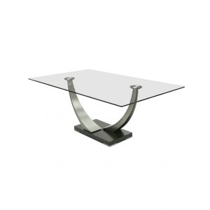 Elite Modern Tangent Dining Table, On Angle