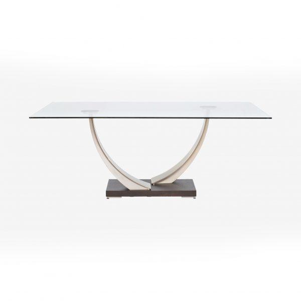 Elite Modern Tangent Dining Table, Straight