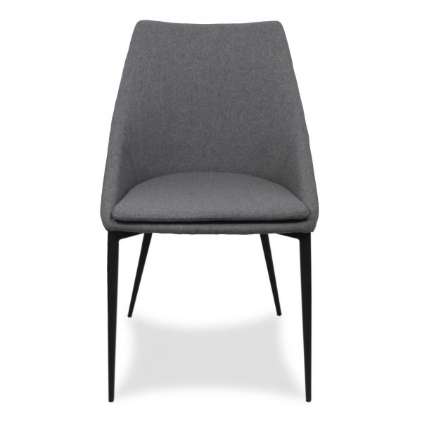 Tori Dining Chair in Light Grey Fabric, Front