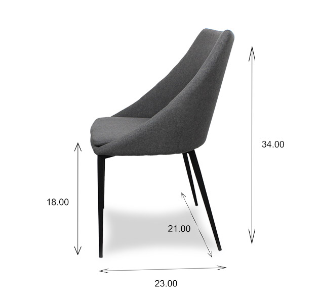 Tori Dining Chair Dimensions