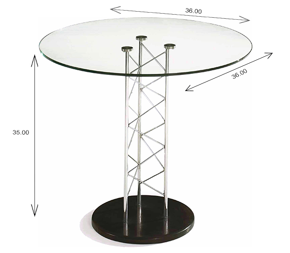 Trave Counter Height Table Dimensions