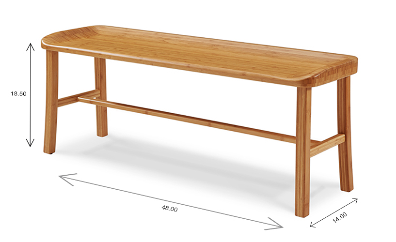 Tulip Dining Bench Dimensions