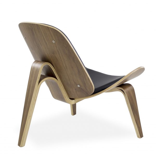 Vega Chair with Black Leather, Back