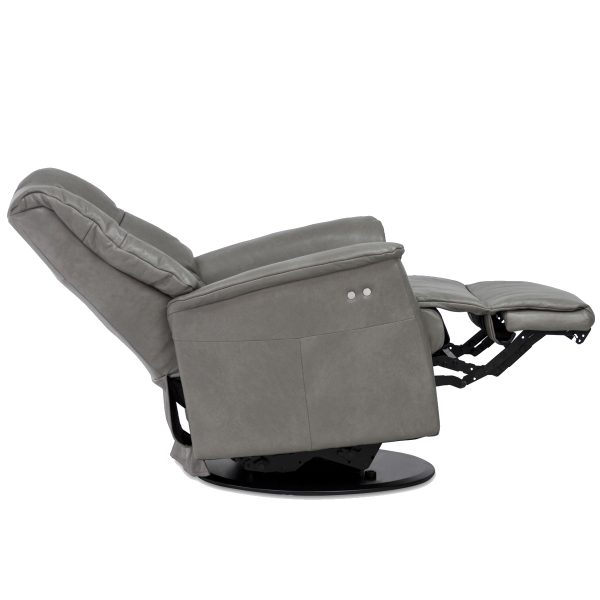 IMG Victor RMS Recliner in Sauvage Dove, Reclined
