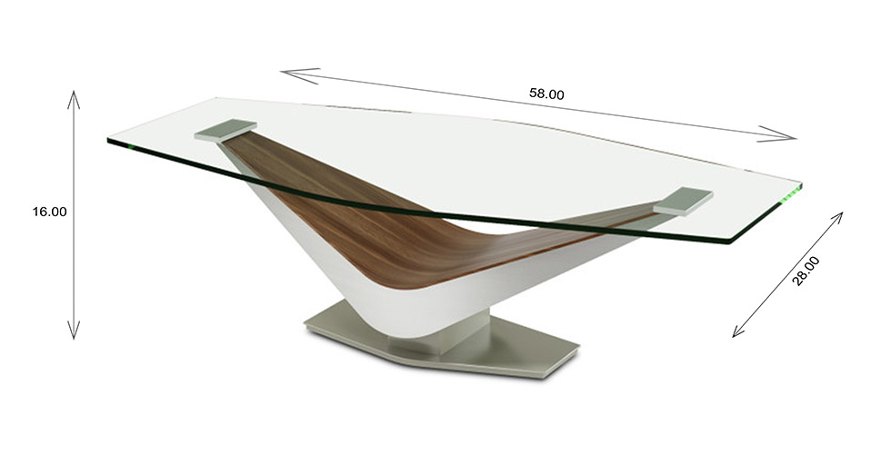 Elite Modern Victor Coffee Table Dimensions