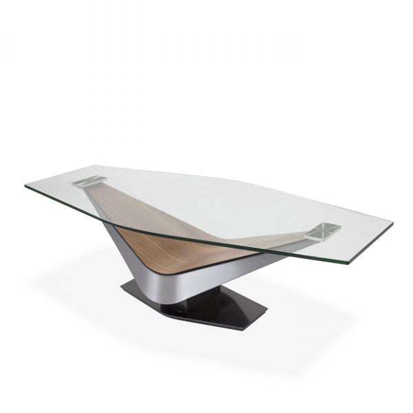 Victor Coffee Table in Walnut, Angle