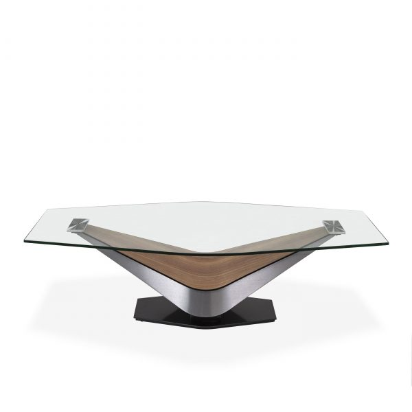Victor Coffee Table in Walnut, Front