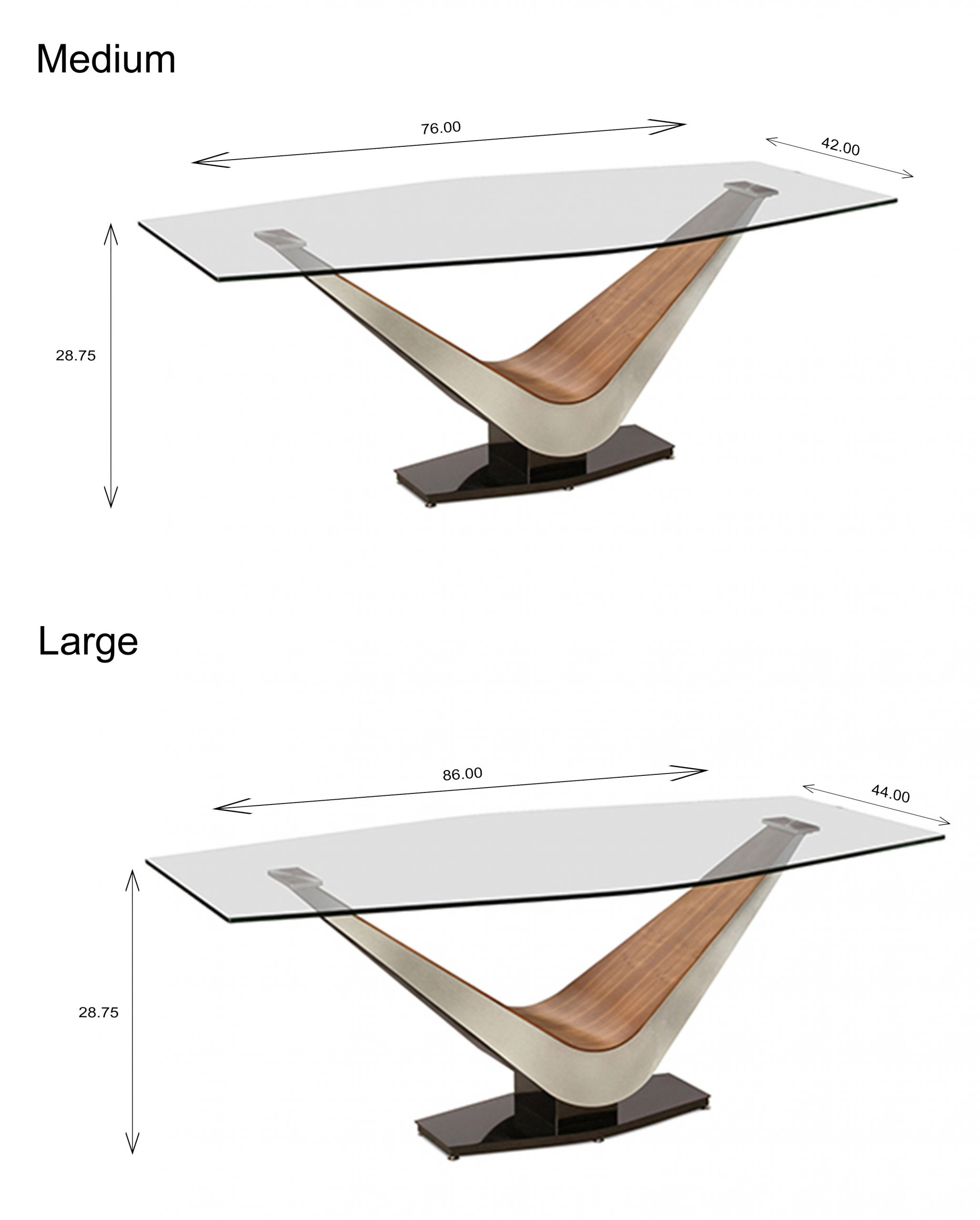 Victor Dining Table - Size