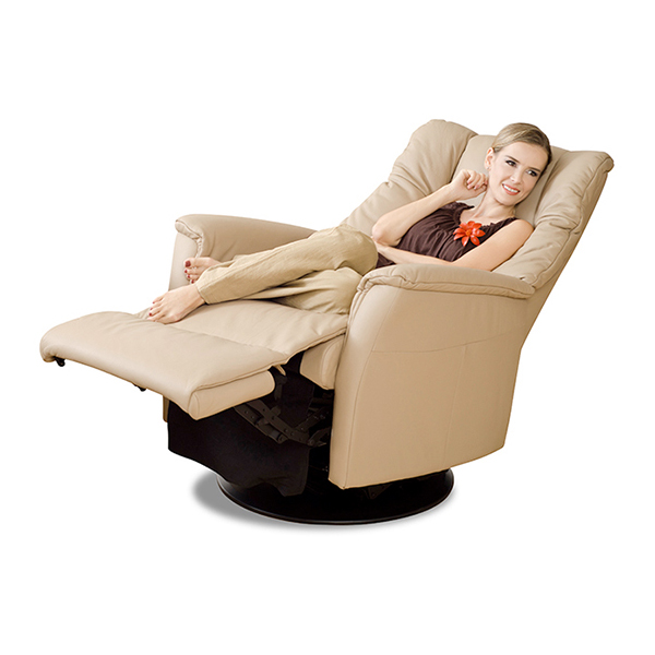 IMG Victor RMS Recliner in Trend Beige with Lady Reclined