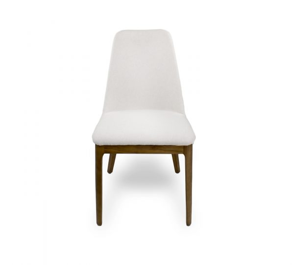 Will Dining Chair in Beige Fabric, Front