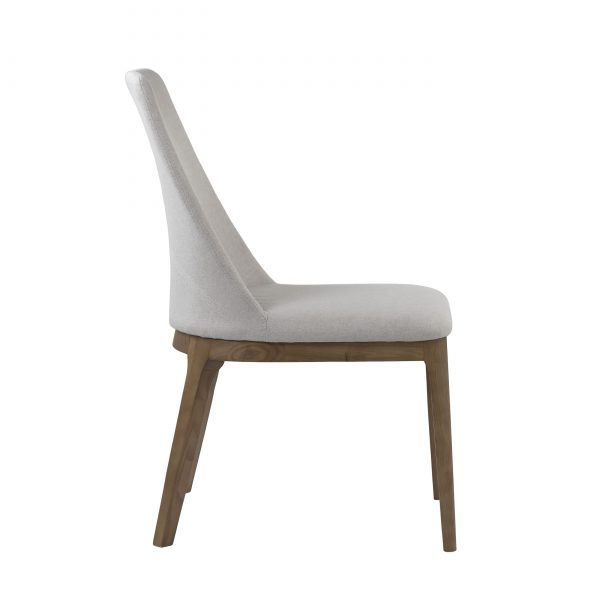 Will Dining Chair in Beige, Side