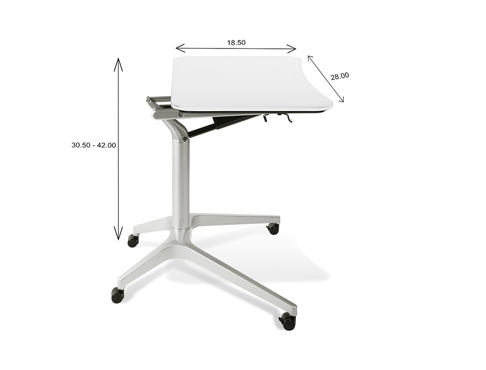201 Workpad Desk with Dimensions