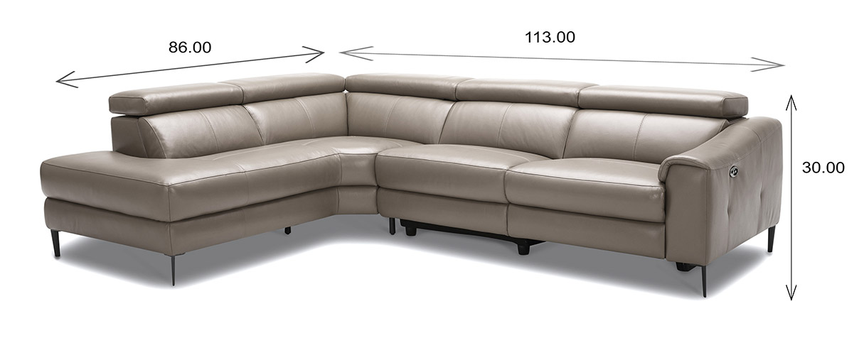 Barclay Sectional Dimensions