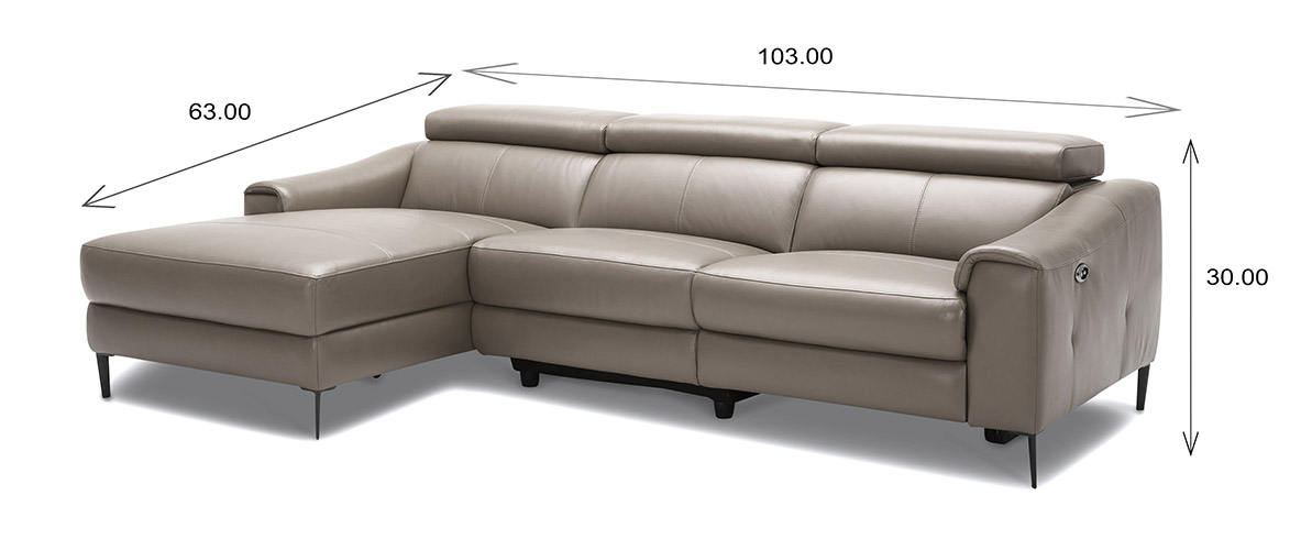 Barclay Sectional Small Dimensions