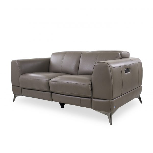 Bidwell Loveseat in New Club Granite, Angle