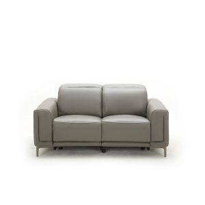 Cardero Loveseat in Dark Grey M55 Leather, Front