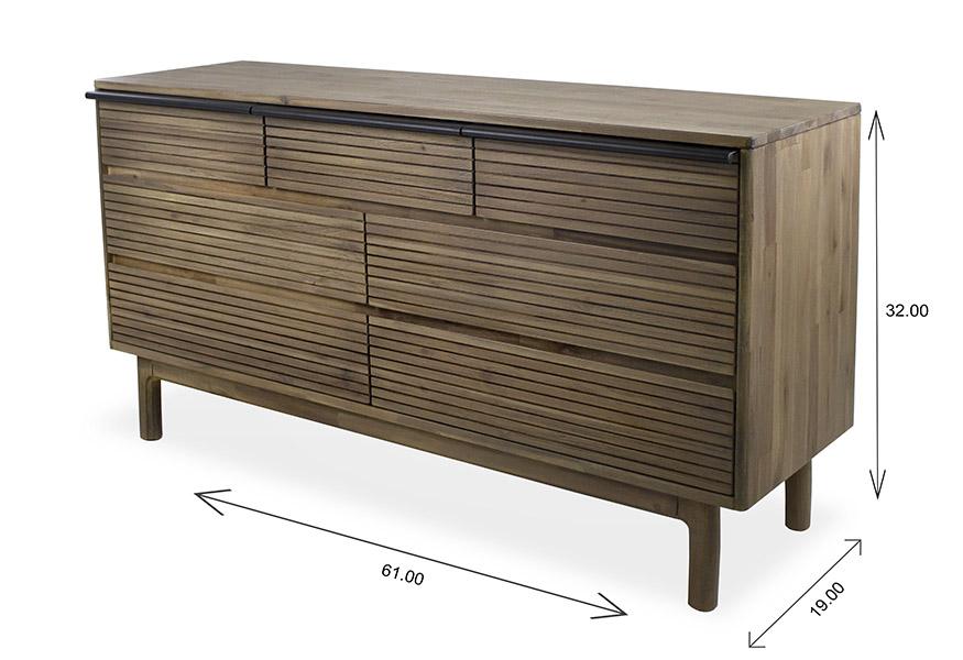 Crest Double Dresser Dimensions