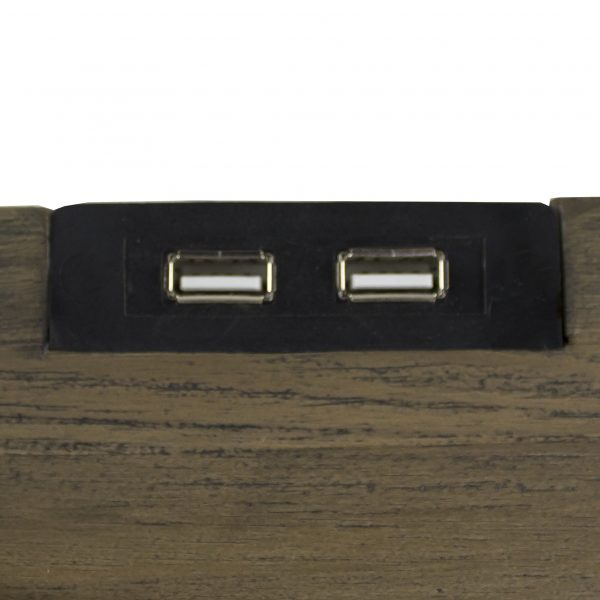 Crest Night Table, USB Ports