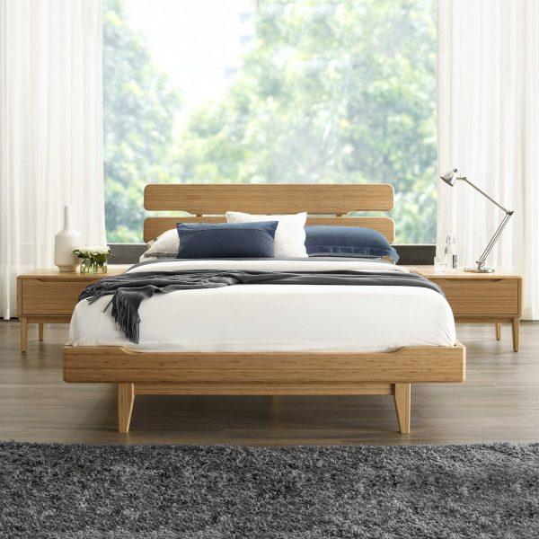 Greenington Currant Bed in Caramel in Bedroom
