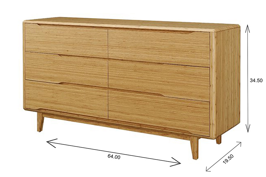 Currant Double Dresser Dimensions