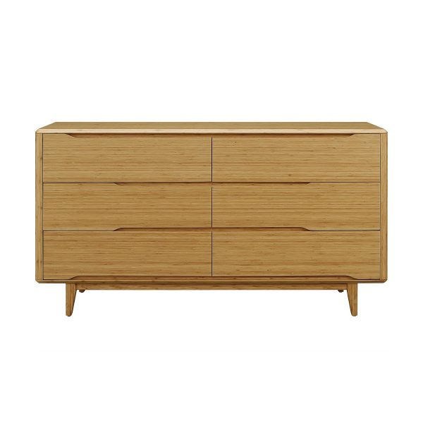 Greenington Currant Double Dresser in Caramel, Front