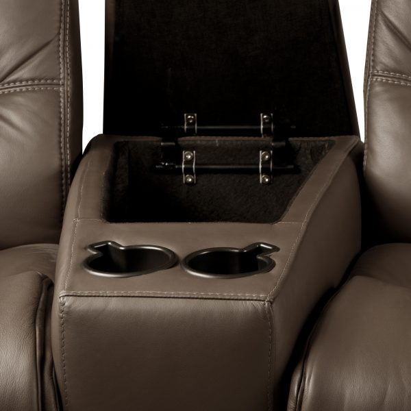 IMG Divani Theatre Armrest with Storage and Drink Holders