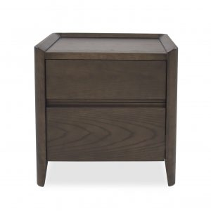 Emma Nightstand in Walnut, Front