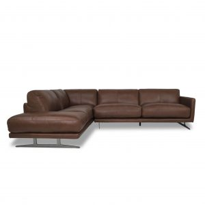 Larsen Sectional in Silky Cumin Leather, SL