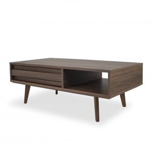 Liam Coffee Table in Walnut, Angle