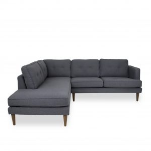 Mark Sectional in Charcoal Grey Fabric, Straight, SL