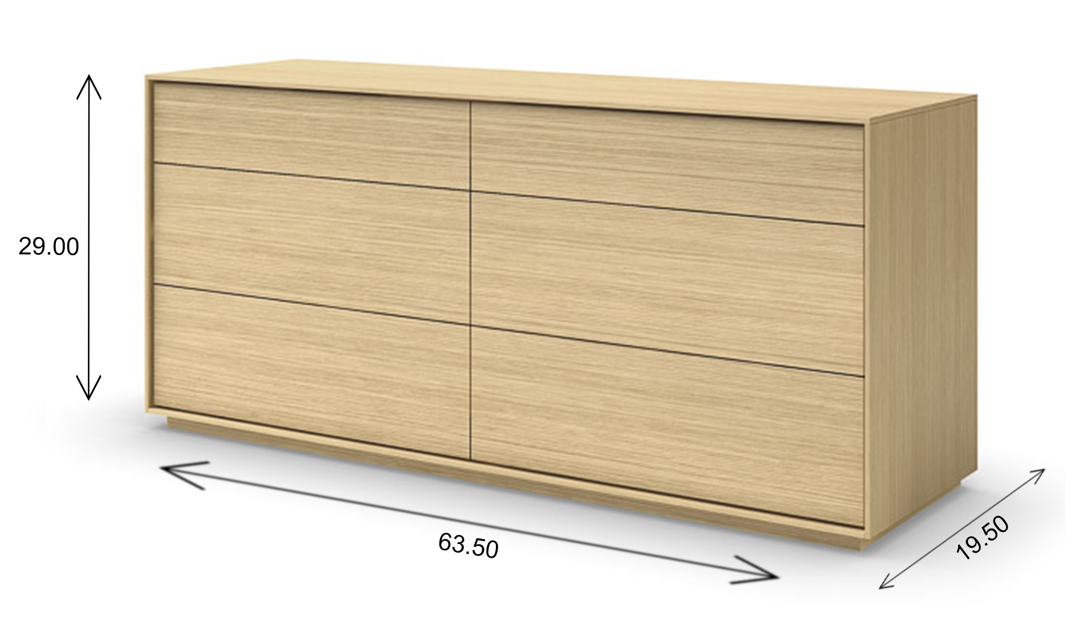 Mobican Azura Double Dresser Dimensions