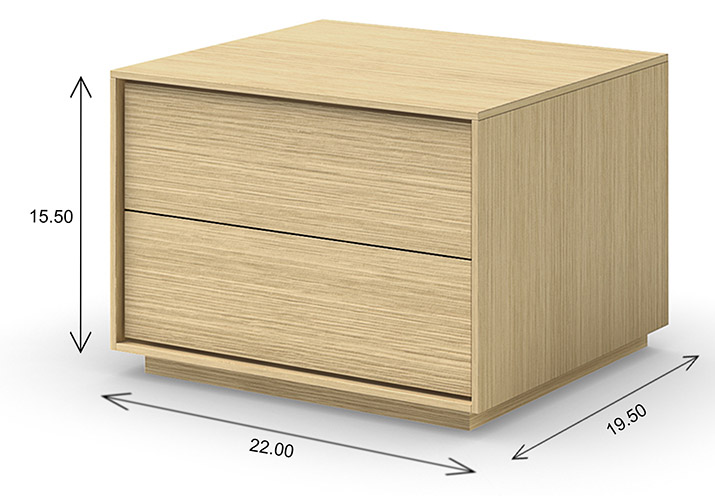 Mobican Azura Nightstand Dimensions