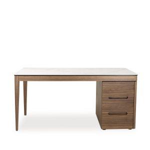 Moody Desk in Walnut, Front