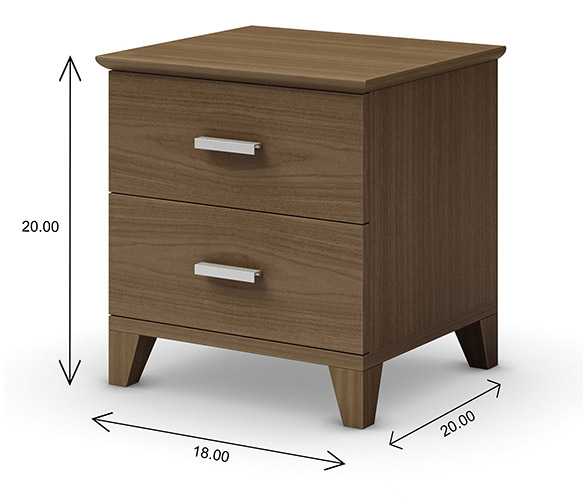 Mobican Sapporo Nightstand Dimensions