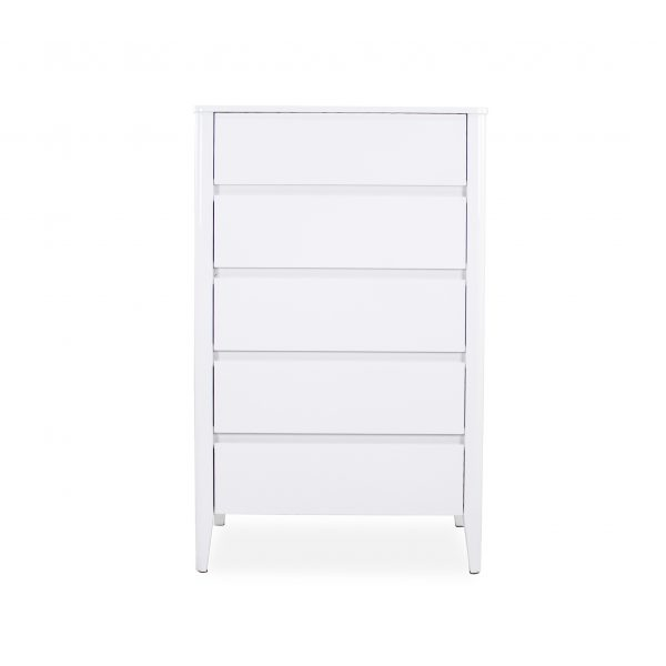 Sonja High Chest in White Lacquer, Front